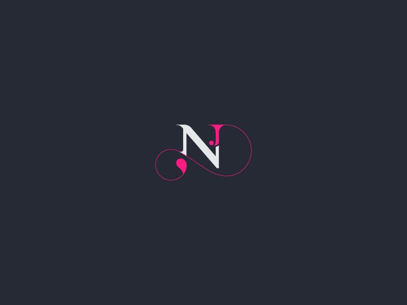 Nj Logo Logos Logo Design Initial Tattoo
