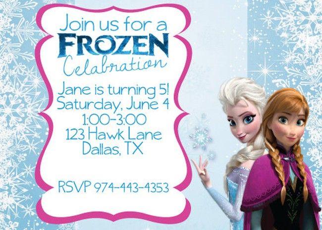 Frozen Birthday Invitation Wording Good