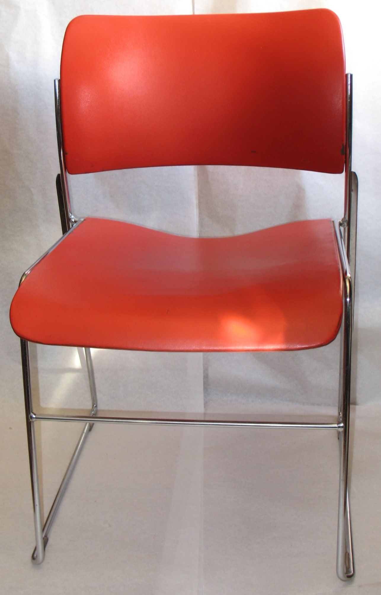 David Rowland Metal Chair Grey Bedroom Uk 1964 Vintage Objects Stackable