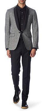 ALEXANDER MCQUEEN Shawl-collar wool-blend blazer