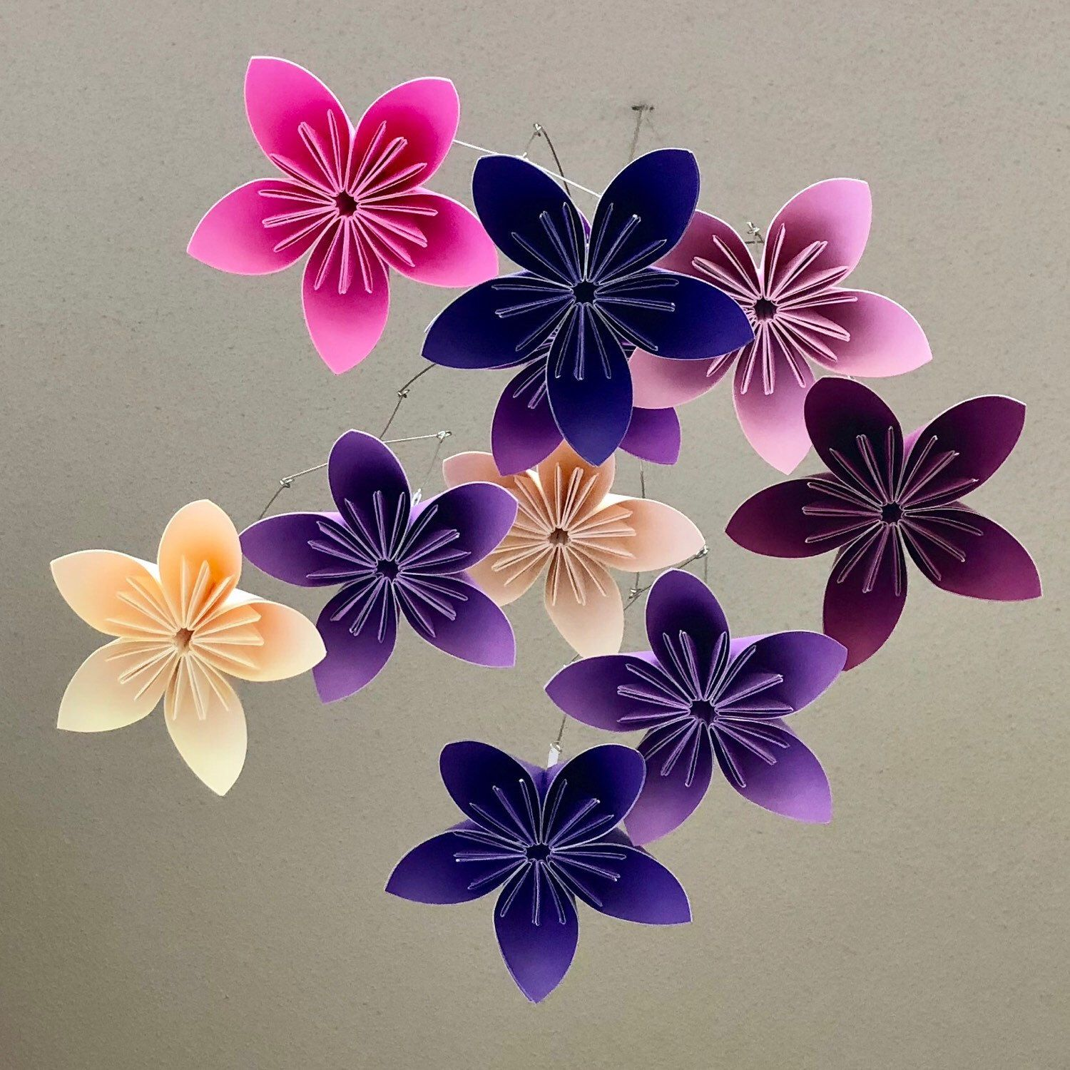 This Is How Katiemade Started With The Origami Flower Mobile For