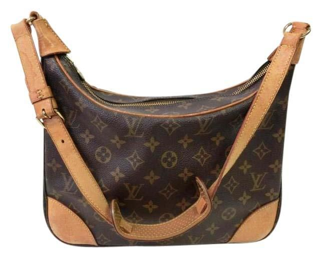 Boulogne 30 Hobo As0012 Brown Monogram Canvas and Leather Shoulder ... 3903a6aa4cb38