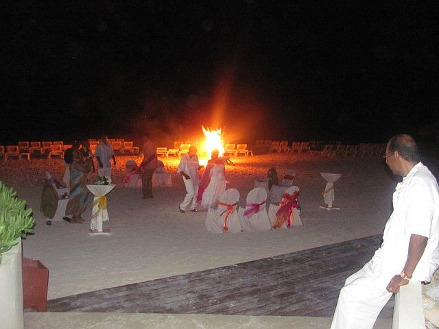 Bonfire on the beach in Jamaica @ the Iberostar Rose Hall Suites ...
