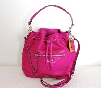 Coach 25661 Daisy Magenta Leather Drawstring Convertible