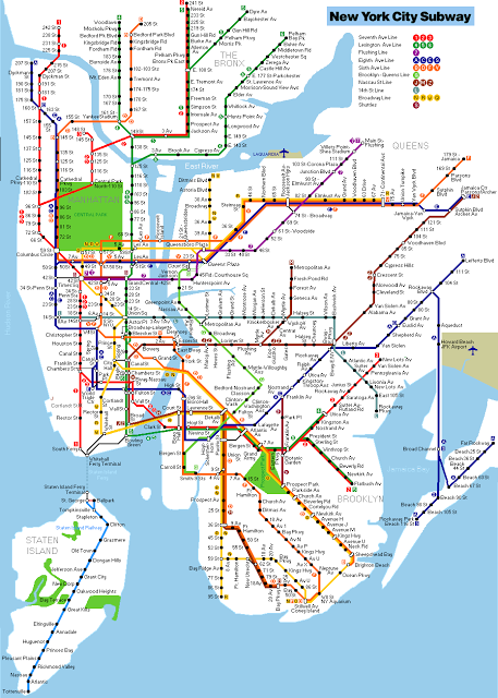 Ny York Subway Map.Printable New York City Map New York Metro Map Nyc In 2019 New