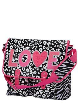 3841c0def0 Cheetah Love Messenger Bag. Cheetah Love Messenger Bag Justice Backpacks