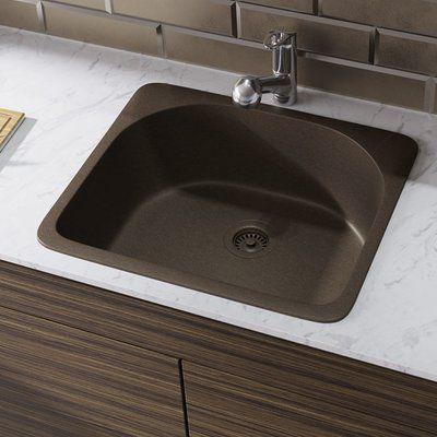 Rene Granite Composite 25 L X 22 W Drop In Kitchen Sink With