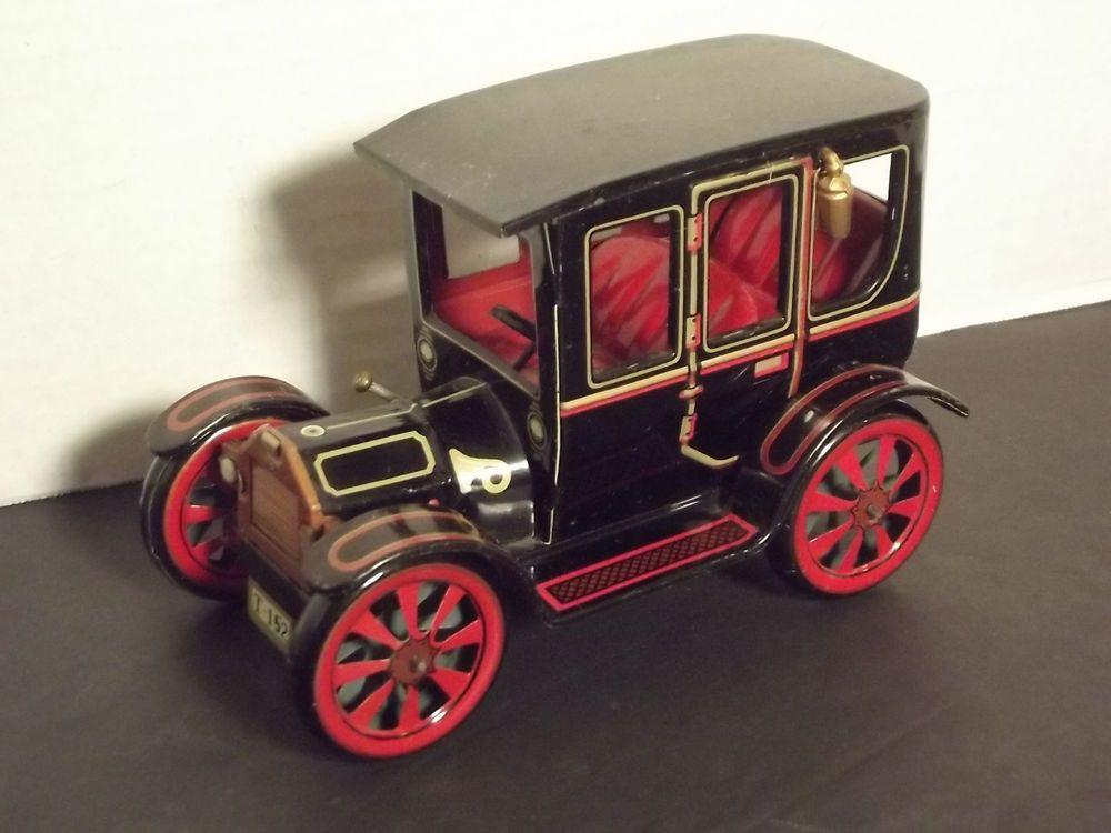 Details about Vintage Japan Tin Litho Metal Model T Car Lever Action