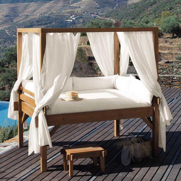 Romantic Outdoor Canopy Beds   public places outdoors design gardens terrace    public places outdoors design gardens