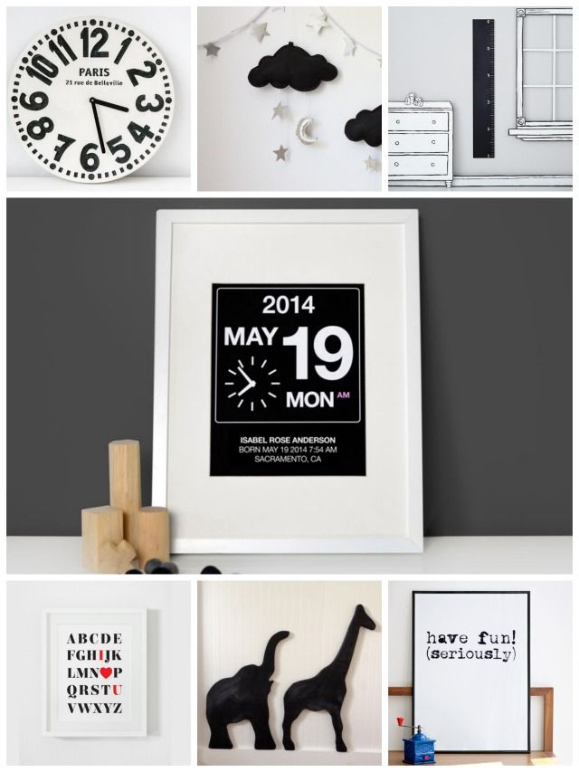 More than 40 ideas for the coolest black and white nursery | Kids ...