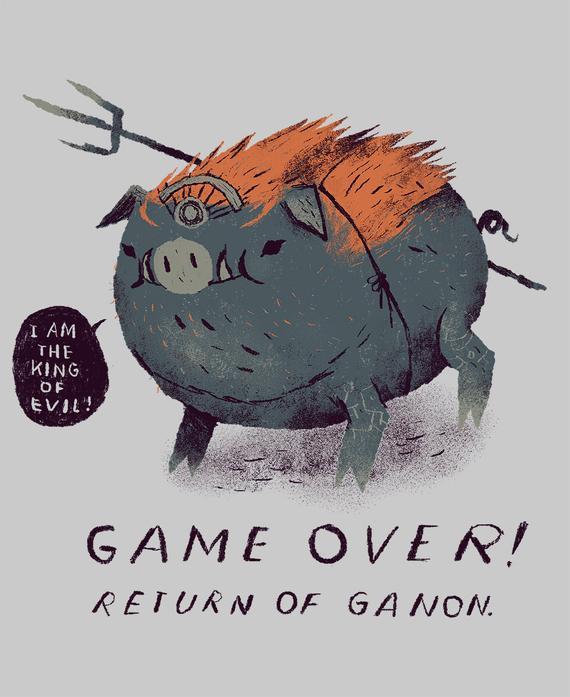 Game Over Return Of Ganon Zelda T Shirt Pig Ganon Shirt