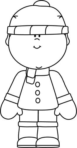 Black And White Winter Boy Clip Art Black And White Winter Boy Image Coloring Pages For Boys Coloring Pages Winter Boy Coloring