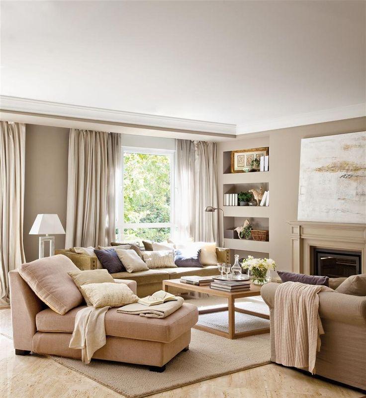 Decorar salones con chimenea buscar con google hortensias pinterest salones decoracion - Decorar un salon con chimenea ...