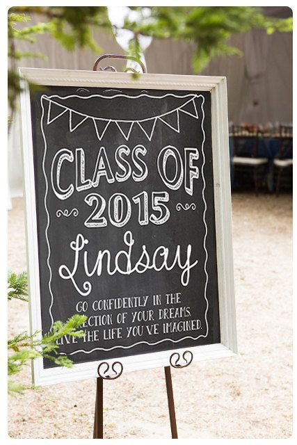 custom chalkboard digital sign for senior by muchtoographic