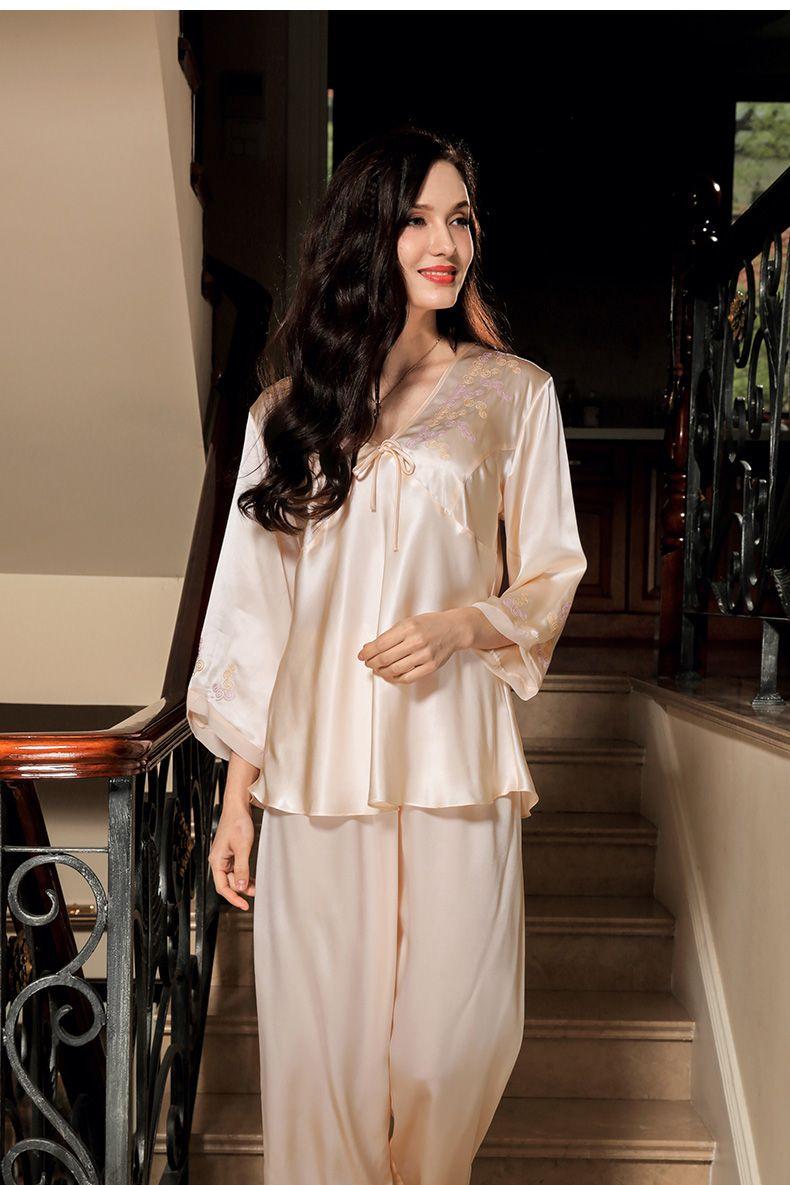Women\'s Silk Nightgown & Robe Set 2 PCs #S841 | Silk Nighties & Silk ...