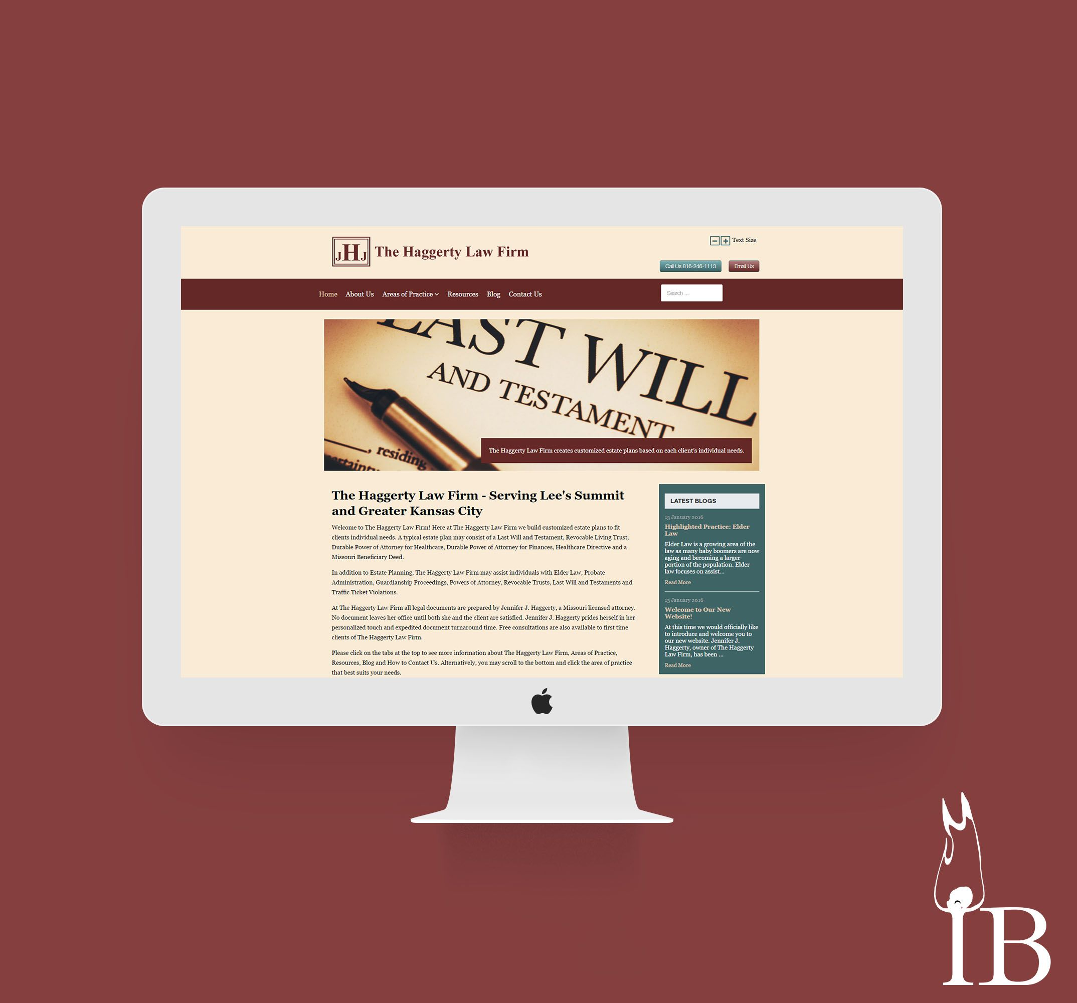 The Haggerty Law Firm Web Design by Igniting Business #webdesign