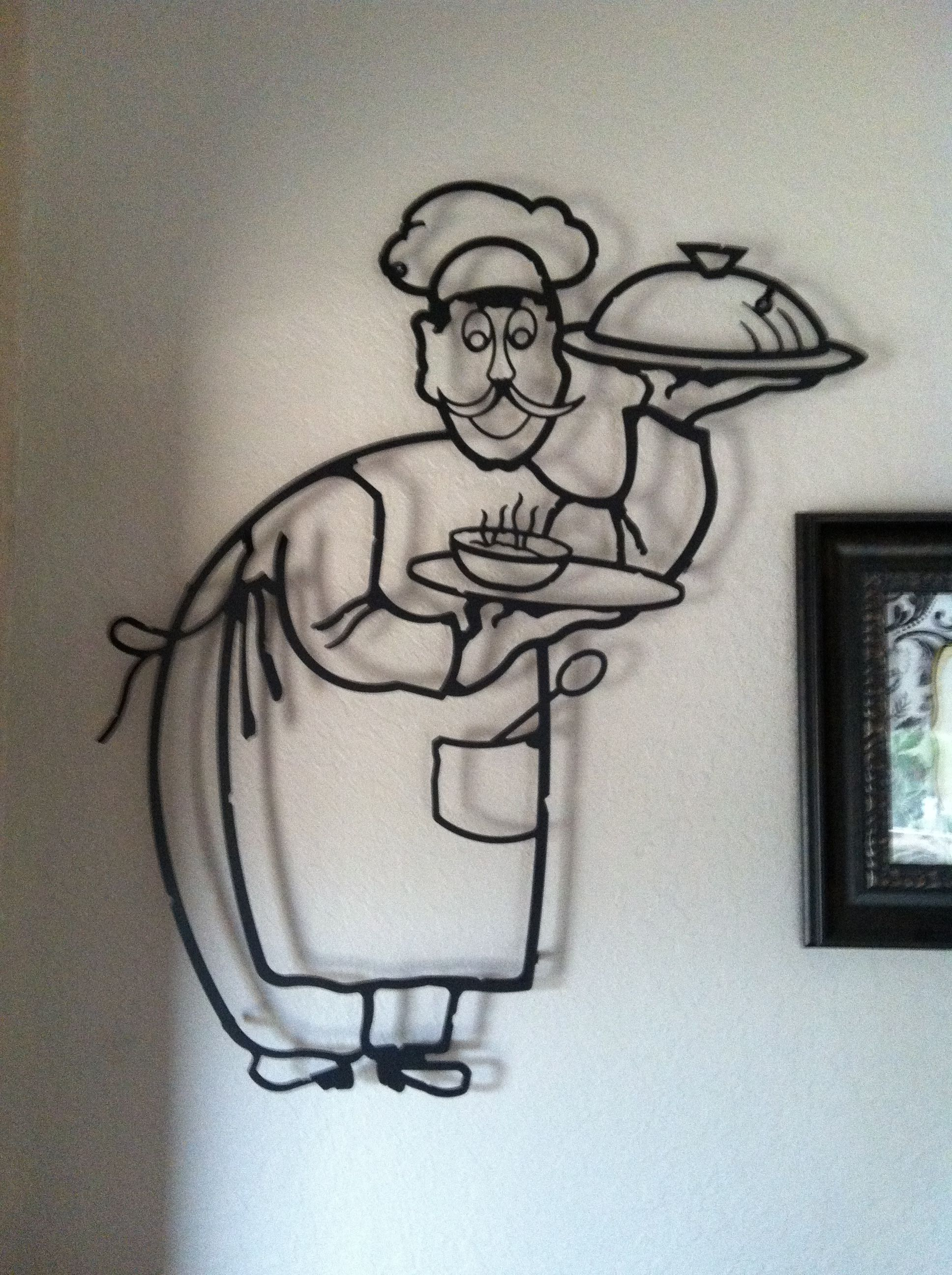 Metal chef wall decor Great piece in the kitchen