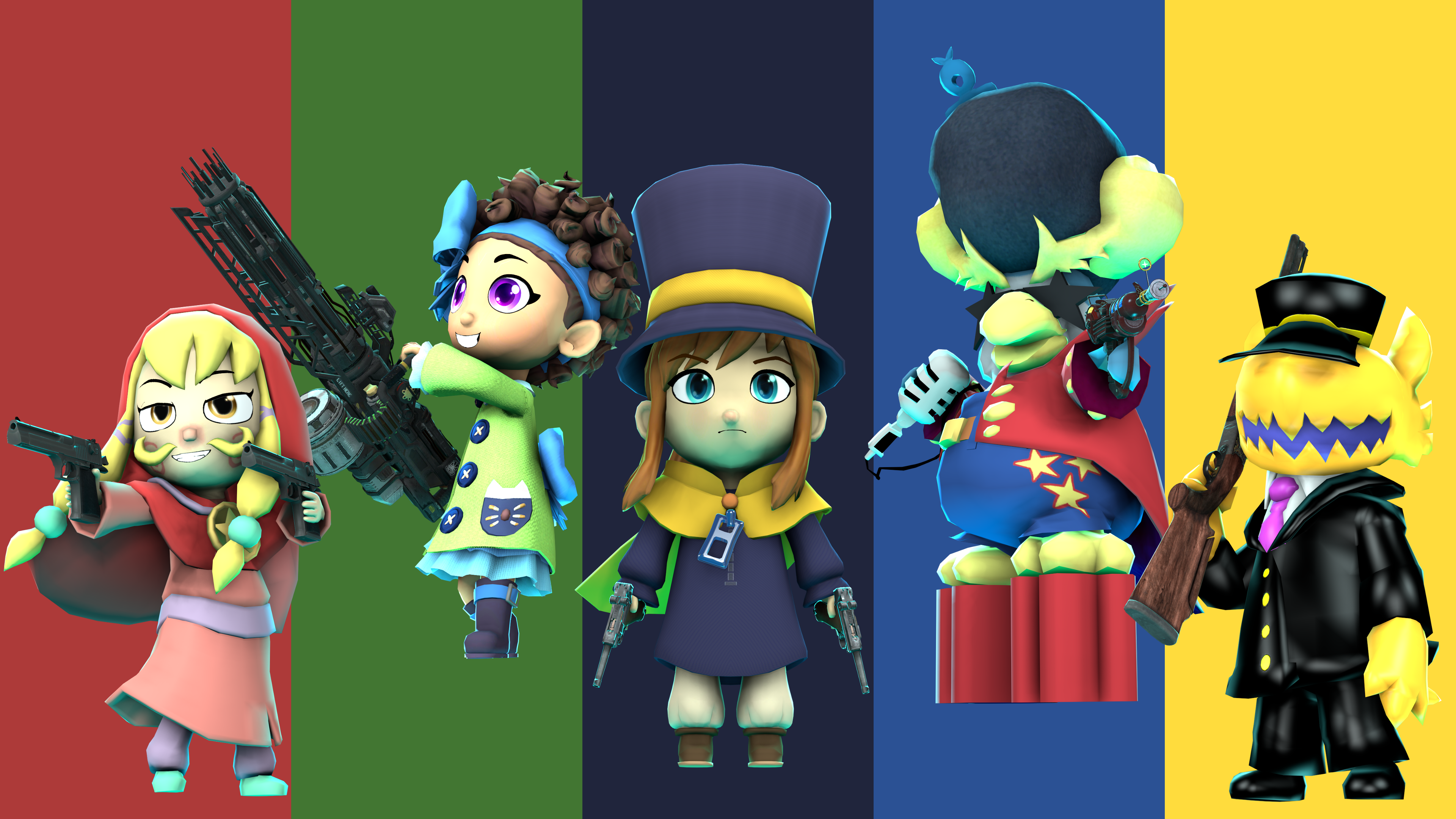 They All Have Guns Great A Hat In Time A Hat In Time Fanart Hat In Time