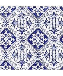 Dark Blue Tiled Italian Paper Totti From Vintageornaments