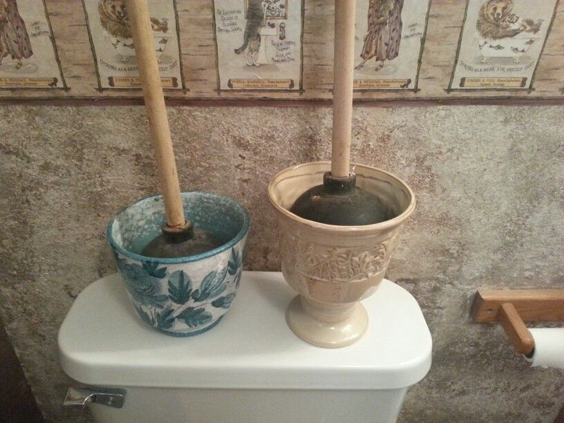 Toilet Plunger Holder Cover Couldn T Find A Cly Way To Hold My And Keep The Mess Off Floor So Went Goodwill Got These For 3 Each