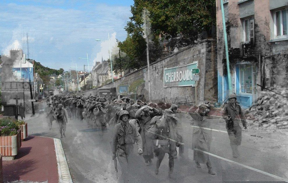 26 Ghostly Images Of World War Two Blended With The Present