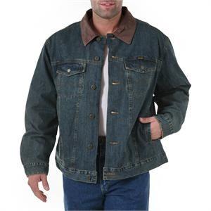 2f8fe46e894 74265RT Wrangler Blanket Lined Denim Jacket Rustic