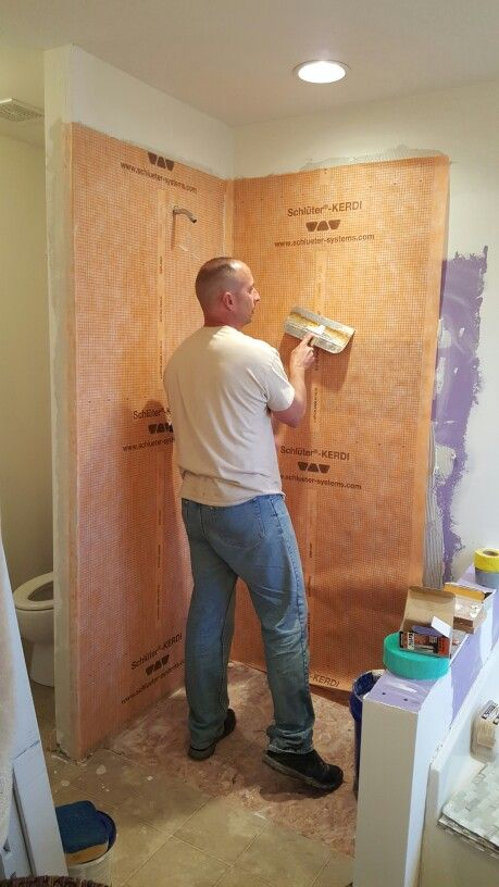 Schluter Kerdi Waterproof Membrane For Shower Walls Home Improvement Projects Half