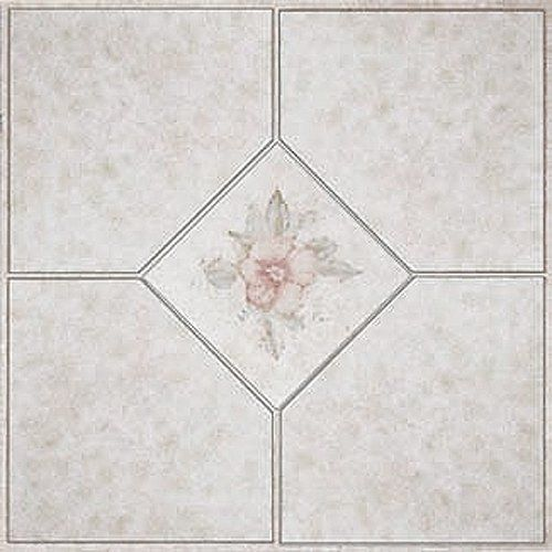 12 X 12 Vinyl Tile In Light Pink Flower Quantity 45 Pieces Home Dynamix Http Www Amazon Com Dp B004g Vinyl Flooring Vinyl Tile Vinyl Flooring Installation