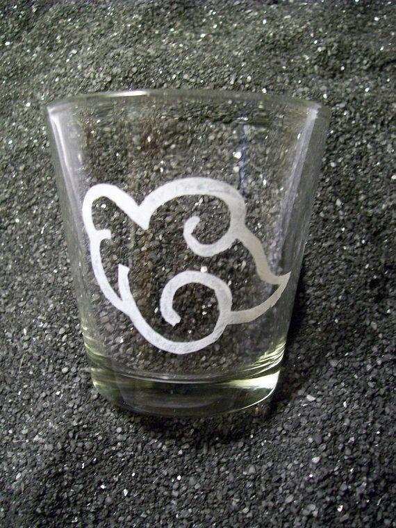 Naruto Akatsuki etched XL shot glass by CoventryDecor on