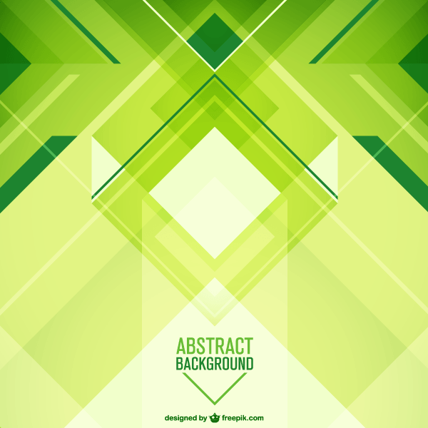Abstract Green Geometric Background Vector Design