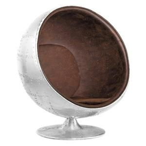 Fauteuil De Salon Design Vintage Aviator   Boule Ball Chair Retro