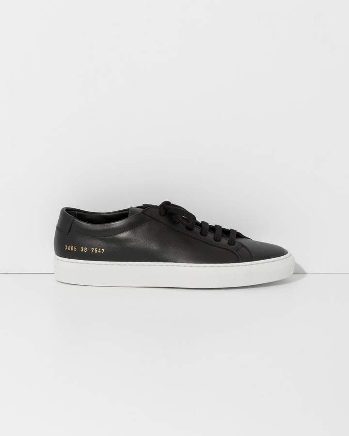 fb35edf955f8 Common Projects Woman By Black Original Achilles Low White Sole ...