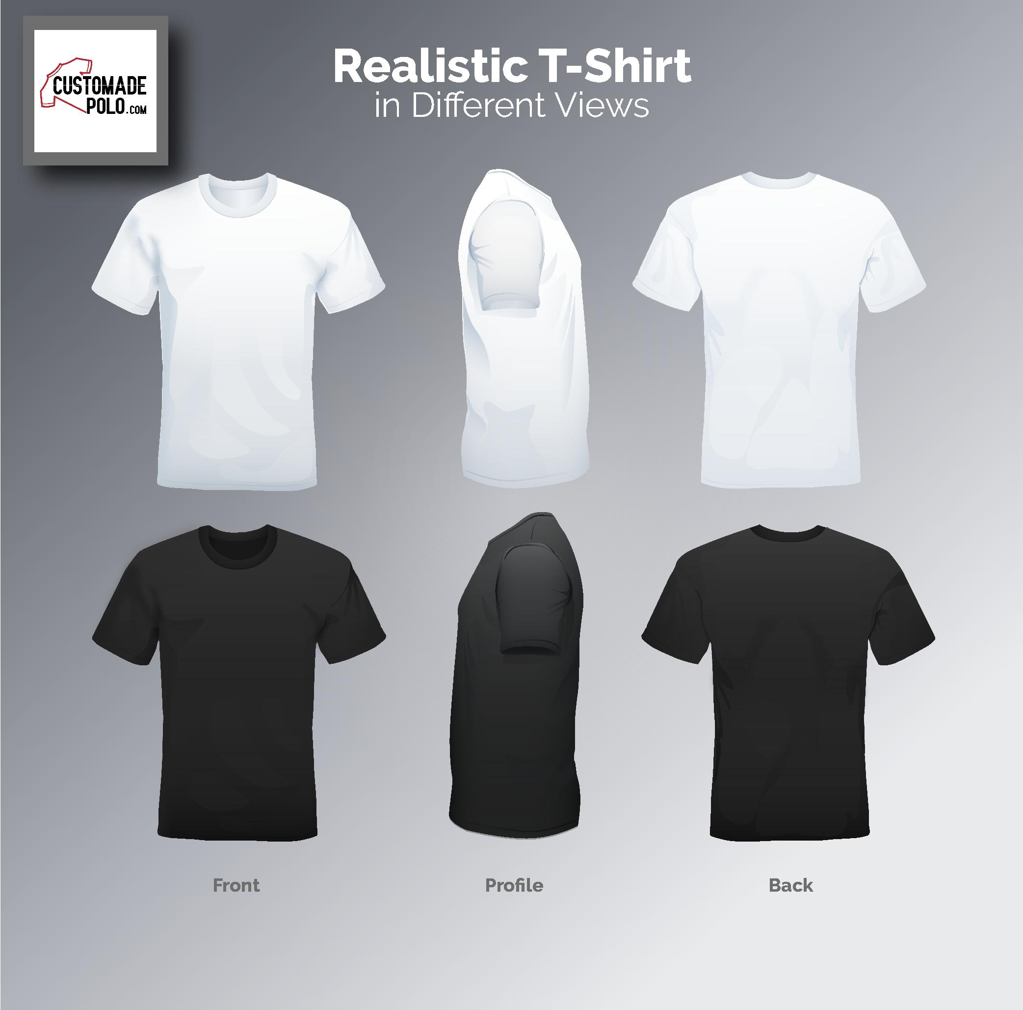 Download Customize Polo Tshirt Kaos Pria Kaos Biru Dongker