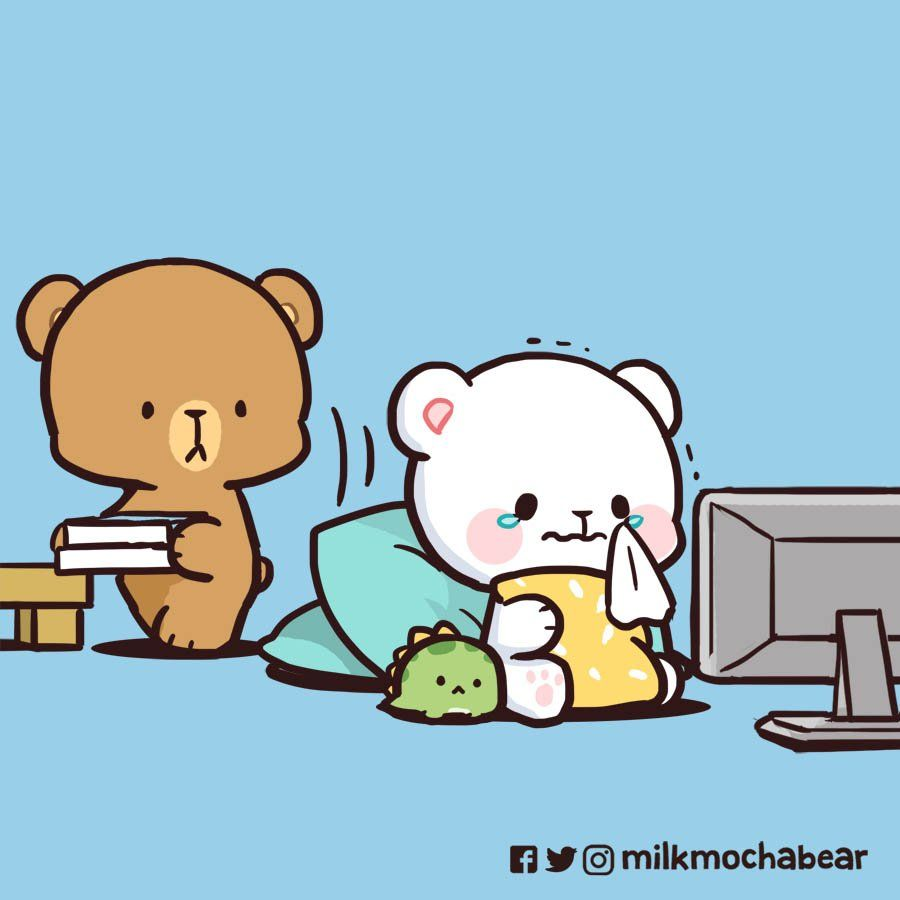 Milk & Mocha on Twitter   Cute bear drawings, Funny ...