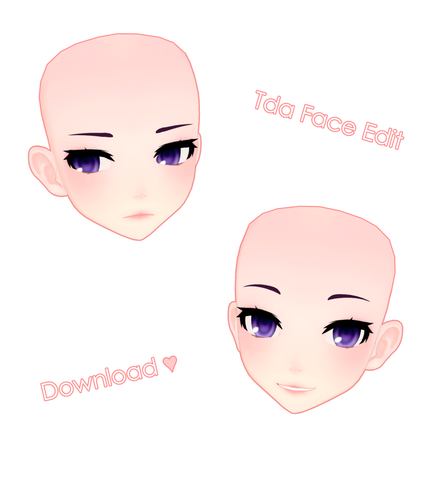 Tda Face Edit Download Mmd By Kyoukiikki Mmd Models