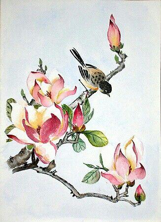 Chinese Flower Paintings Red Peony Flower Painting Peony