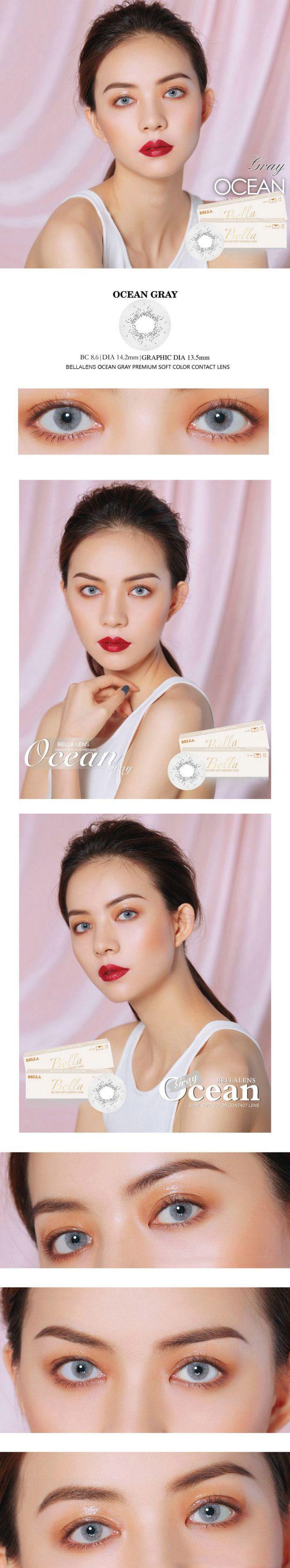 Color contact lenses online shop - 14 20mm Bella Ocean Contact Lens Color Gray 16 99 Contactlensdropshipping Com Online