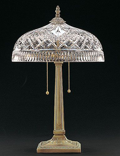 Waterford Beaumont Lamp Crystal Table, Waterford Crystal Lamp Patterns