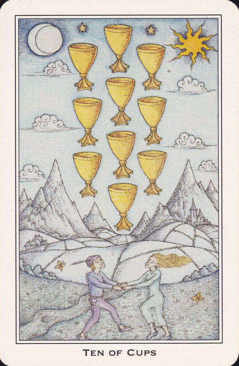 tarot card 10 of cups