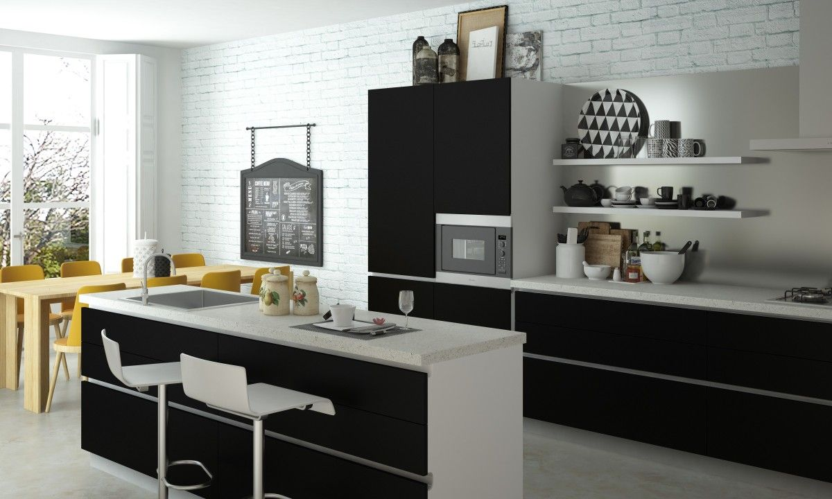 Loving This Black And White Open Layout Modularkitchen