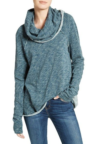 Free shipping and returns on Free People 'Beach Cocoon' Cowl Neck Pullover at Nordstrom.com. Heathered cotton and a lushly draped cowl neckline soften this raglan-sleeve pullover casually styled with exposed-seam details and contrast trim.