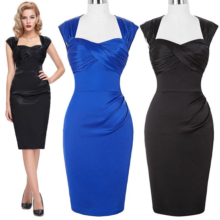 So Couture Black Hourglass Vintage Pencil Dress Vintage Pencil Dress Fashion The Pretty Dress Company [ 1530 x 1020 Pixel ]