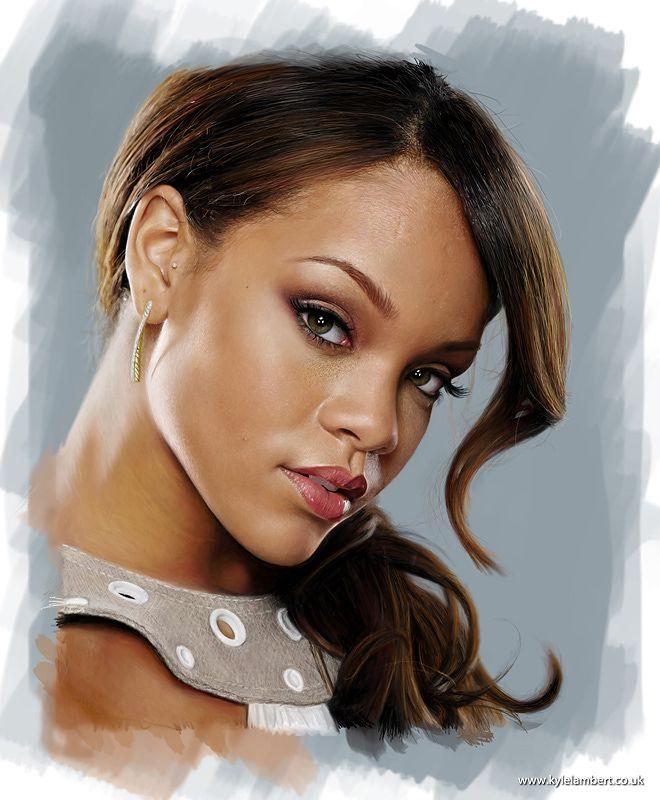 Rihanna - Photorealistic Painting by Kyle Lambert