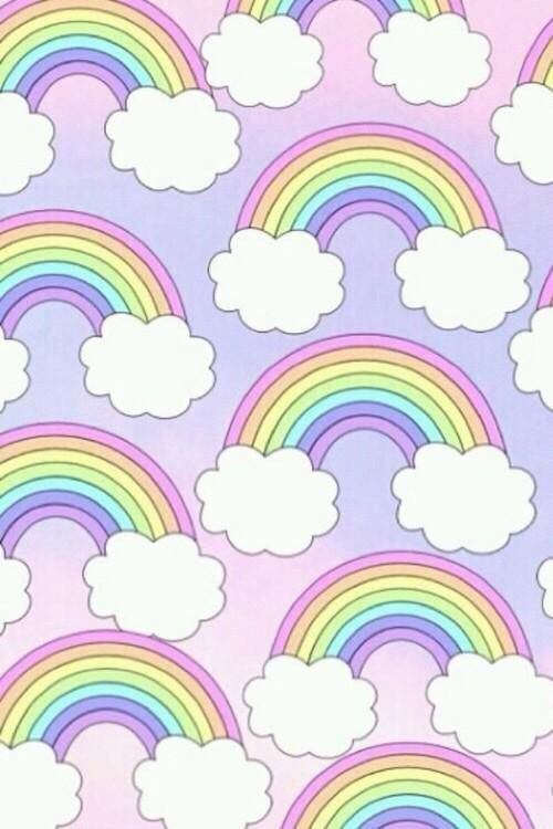 Pastel Rainbows Pattern With Images Rainbow Wallpaper Pastel
