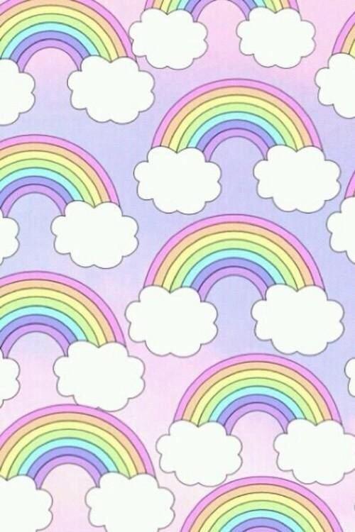 Pastel rainbows pattern patterns pinterest pastels - Rainbow background pastel ...