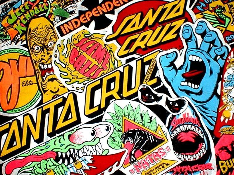 Santa Cruz Logo Wallpaper Google Search Santa Cruz Stickers Santa Cruz Art