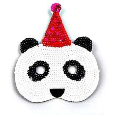 Maske Pailletten Panda