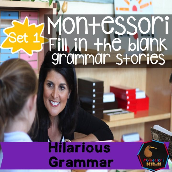 Montessori fill in the grammar story set 1 language extensions