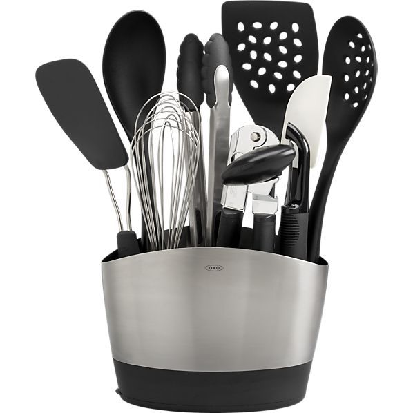 Oxo Kitchen Supplies Las Vegas Hotel With 10 Piece Crock Tools Set In Cooking Utensils Crate And Barrel Idea For That College Student Or Someone Just Moving Out On Their Own