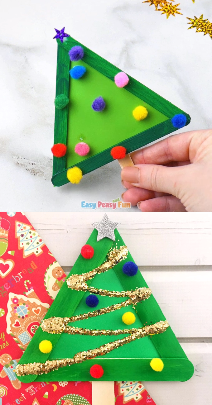 Christmas Tree Craft from Craft Sticks